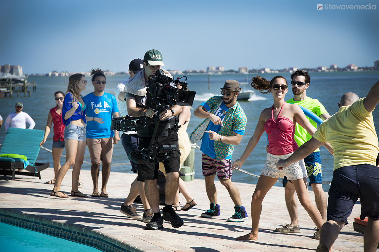 St. Petersburg production company films commercial.